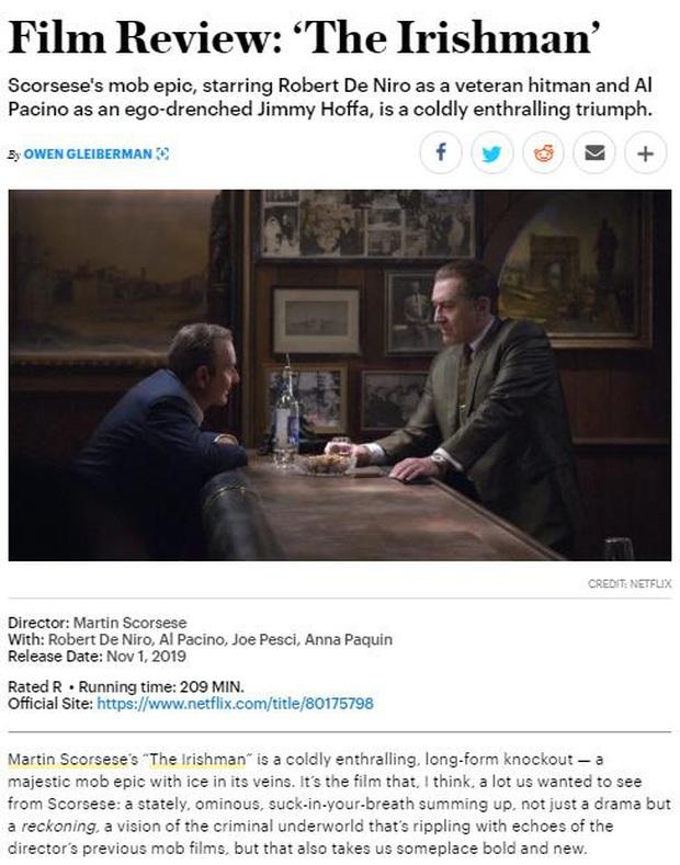 Khán giả khen hết lời The Irishman: Màn trình diễn của những già gân hay phiên bản đẫm máu của kiệt tác Forrest Gump? - Ảnh 13.