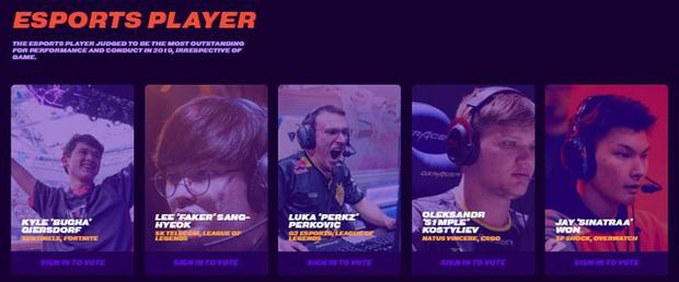 Faker lại cạnh tranh với Perkz danh hiệu Game thủ Esports xuất sắc nhất tại The Game Awards 2019 danh giá - Ảnh 3.