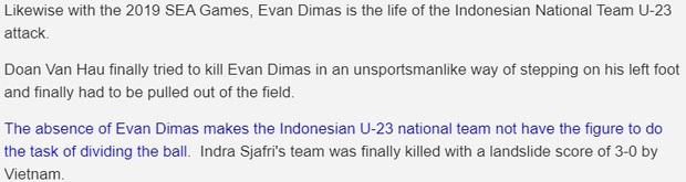 Evan Dimas chấn thương không nặng, báo Indonesia vẫn không buông tha: Văn Hậu cố tình giết đồng nghiệp - Ảnh 3.