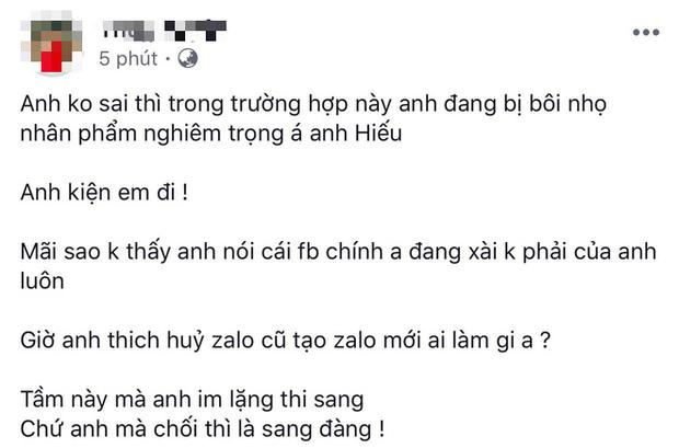 Hồ Quang Hiếu vừa phủ nhận ồn ào tình ái, nữ chính lên tiếng: Anh đang bị bôi nhọ nghiêm trọng đó, kiện tôi đi - Ảnh 1.