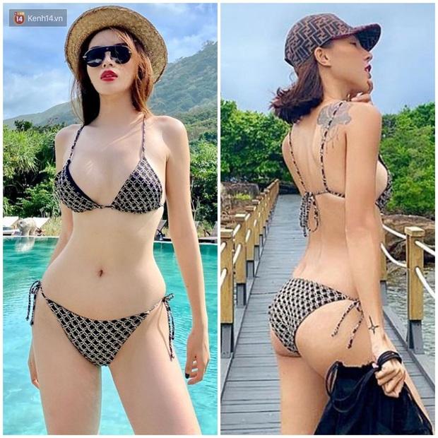 Kỳ Duyên – Minh Triệu tình nồng thắm đến độ một bộ bikini cũng chia nhau mặc chung? - Ảnh 3.