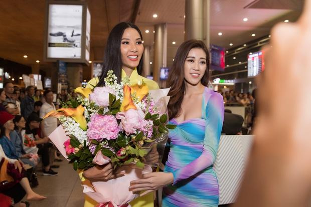 Tân Hoa hậu Khánh Vân đón Hoàng Thùy trở về từ Mỹ lúc nửa đêm sau thành tích Top 20 Miss Universe - Ảnh 5.