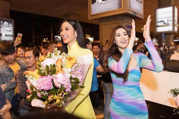 Tân Hoa hậu Khánh Vân đón Hoàng Thùy trở về từ Mỹ lúc nửa đêm sau thành tích Top 20 Miss Universe - Ảnh 4.