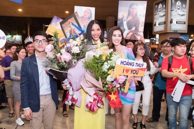 Tân Hoa hậu Khánh Vân đón Hoàng Thùy trở về từ Mỹ lúc nửa đêm sau thành tích Top 20 Miss Universe - Ảnh 3.