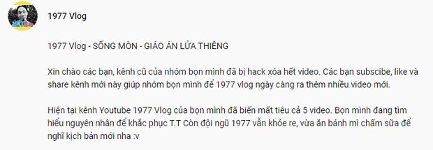 1977 Vlog giữa tâm bão: Thừa nhận không tự ẩn video, còn bị kẻ khác tranh thủ nhái YouTube y hệt - Ảnh 4.
