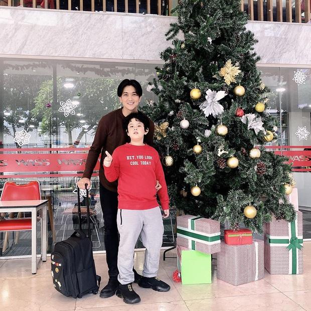 Con trai Tim - Trương Quỳnh Anh gây ngỡ ngàng với ngoại hình lớn khó tin, mới lên 8 đã cao ngang ngửa bố - Ảnh 1.