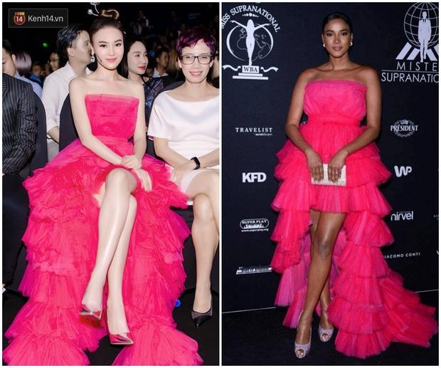 Hoa hậu Hoàn vũ 2011 Leila Lopes diện đầm của NTK Việt, đụng hàng ngay Ninh Dương Lan Ngọc cùng loạt người đẹp Vbiz - Ảnh 7.