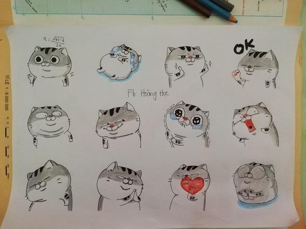 Quá rảnh rỗi trong giờ học, nam sinh vẽ tay loạt biểu tượng cảm xúc của Facebook trông còn chất hơn cả bản gốc - Ảnh 3.