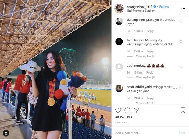 Fan Indonesia đánh chiếm Instagram của bạn gái Văn Hậu, nguyền rủa bộ đôi trai tài, gái sắc xuống địa ngục - Ảnh 1.