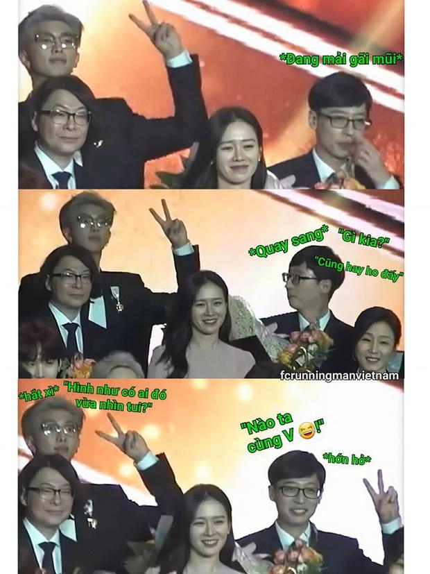Khoảnh khắc gây bão của Yoo Jae Suk và thủ lĩnh BTS: Copy cách RM tạo dáng, đáng yêu tới mức chị đẹp Son Ye Jin bị lu mờ - Ảnh 4.