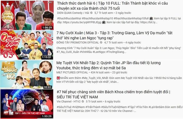 4 TV Show phủ sóng top 10 trending YouTube, show của Quỳnh Trần JP & bé Sa lên hạng chưa đến 24 tiếng - Ảnh 1.