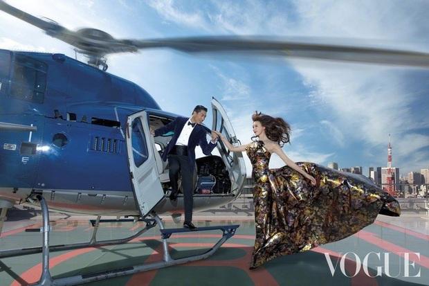 Công bố bộ ảnh cưới lồng lộn thửa riêng cho tạp chí của đệ nhất chân dài xứ Đài Lâm Chí Linh và chồng Nhật kém 7 tuổi - Ảnh 2.