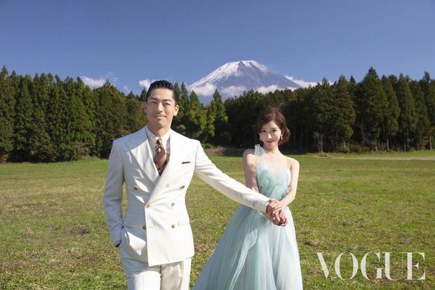 Công bố bộ ảnh cưới lồng lộn thửa riêng cho tạp chí của đệ nhất chân dài xứ Đài Lâm Chí Linh và chồng Nhật kém 7 tuổi - Ảnh 1.