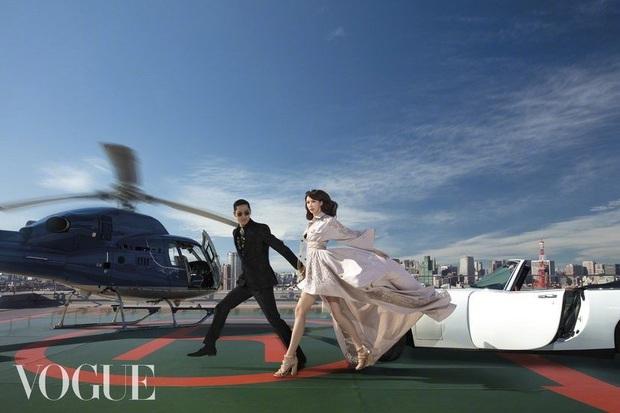 Công bố bộ ảnh cưới lồng lộn thửa riêng cho tạp chí của đệ nhất chân dài xứ Đài Lâm Chí Linh và chồng Nhật kém 7 tuổi - Ảnh 5.