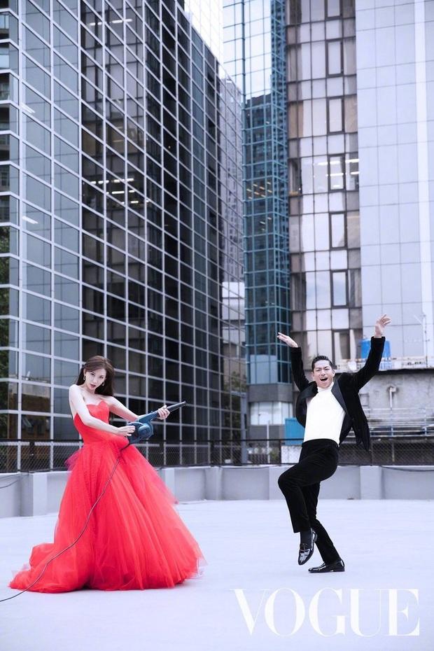 Công bố bộ ảnh cưới lồng lộn thửa riêng cho tạp chí của đệ nhất chân dài xứ Đài Lâm Chí Linh và chồng Nhật kém 7 tuổi - Ảnh 4.