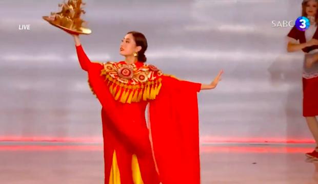 Clip: Lương Thùy Linh cực xuất sắc trong màn trình diễn múa mâm, chính thức lọt vào top 40 Miss World 2019 - Ảnh 3.