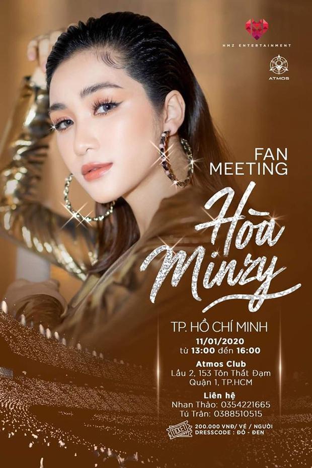 Fan Kpop nổi giận đùng đùng khi ekip Hoà Minzy mượn hình ảnh concert EXO làm poster fanmeeting, designer lên tiếng phân trần - Ảnh 1.