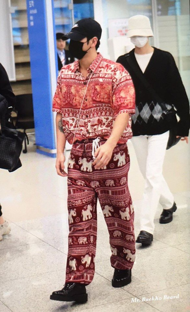 Quỳ với thời trang sân bay của idol nhóm NU'EST: Diện nguyên bộ đồ thổ cẩm như sợ cả thế giới không biết mình vừa đi Thái Lan về! - Ảnh 4.