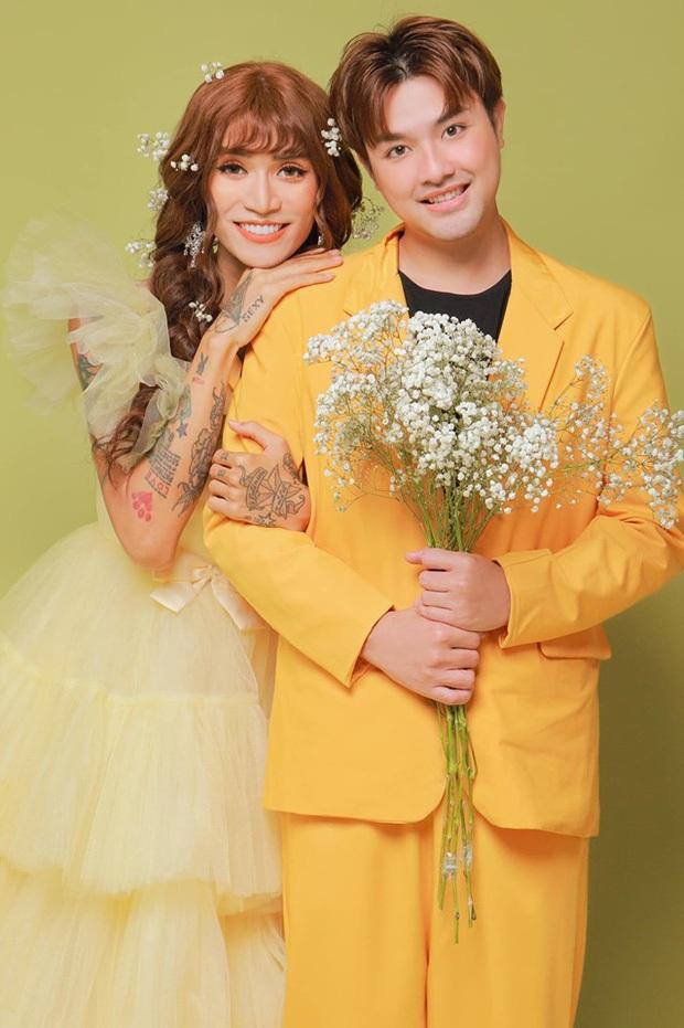 BB Trần gây bão chỉ với 2 bức ảnh: Diện áo dài nền nã, tự nhận đẹp như cô dâu Việt - chú rể Hàn bên bạn trai - Ảnh 3.
