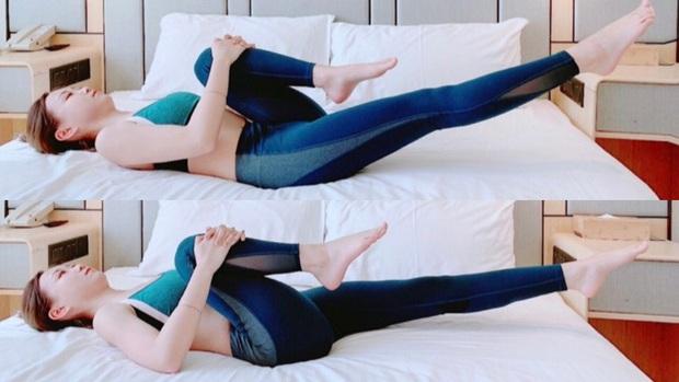 Muốn giảm size đùi và bụng mà lười tới phòng tập: thử ngay 4 bài tập trên giường để nhìn rõ sự thay đổi - Ảnh 2.