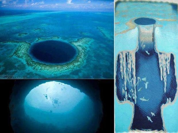 Clip rùng mình: Du khách nhảy dù chao đảo trên miệng hố sâu hun hút giữa biển, bên dưới tiềm ẩn nguy hiểm chết người! - Ảnh 5.