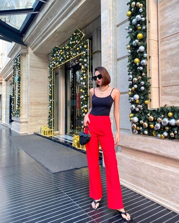 Street style sao Việt: Diệu Nhi mặc quần chói lòa như một quả cầu disco liệu có đủ ăn thua với Chi Pu hở bạo hết nút? - Ảnh 10.