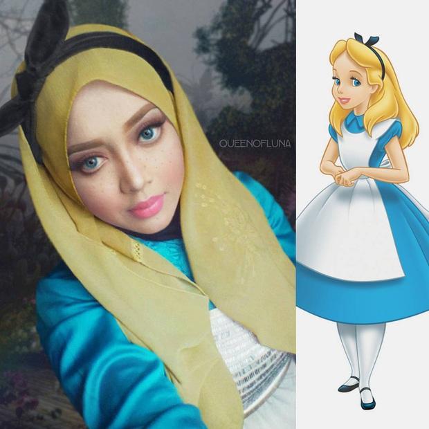 Từ dị nhân của phim X-Men cho đến kẻ phản diện trong vũ trụ điện ảnh Disney, cô gái tự tin cosplay thành bất cứ ai chỉ với tấm khăn Hijab - Ảnh 24.