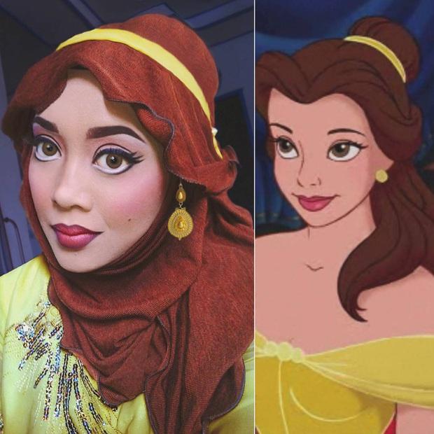 Từ dị nhân của phim X-Men cho đến kẻ phản diện trong vũ trụ điện ảnh Disney, cô gái tự tin cosplay thành bất cứ ai chỉ với tấm khăn Hijab - Ảnh 21.