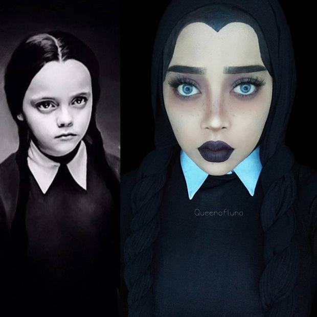 Từ dị nhân của phim X-Men cho đến kẻ phản diện trong vũ trụ điện ảnh Disney, cô gái tự tin cosplay thành bất cứ ai chỉ với tấm khăn Hijab - Ảnh 9.