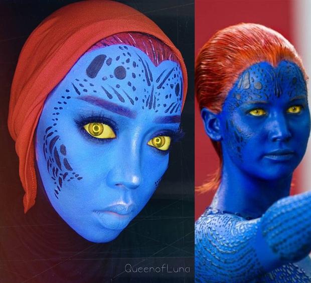 Từ dị nhân của phim X-Men cho đến kẻ phản diện trong vũ trụ điện ảnh Disney, cô gái tự tin cosplay thành bất cứ ai chỉ với tấm khăn Hijab - Ảnh 13.