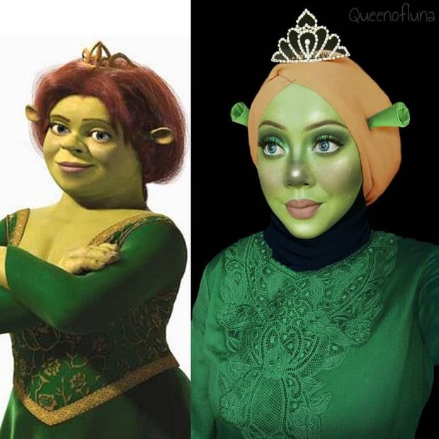 Từ dị nhân của phim X-Men cho đến kẻ phản diện trong vũ trụ điện ảnh Disney, cô gái tự tin cosplay thành bất cứ ai chỉ với tấm khăn Hijab - Ảnh 12.