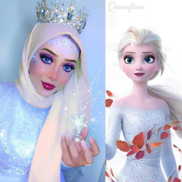 Từ dị nhân của phim X-Men cho đến kẻ phản diện trong vũ trụ điện ảnh Disney, cô gái tự tin cosplay thành bất cứ ai chỉ với tấm khăn Hijab - Ảnh 4.