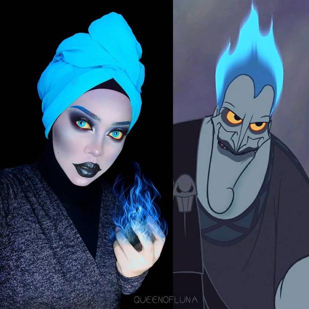 Từ dị nhân của phim X-Men cho đến kẻ phản diện trong vũ trụ điện ảnh Disney, cô gái tự tin cosplay thành bất cứ ai chỉ với tấm khăn Hijab - Ảnh 1.