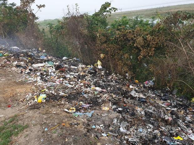 Kinh hoàng những bãi rác khổng lồ nằm ngay trên đê chống lũ - Ảnh 4.