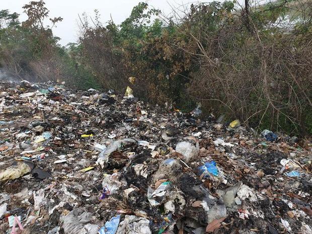 Kinh hoàng những bãi rác khổng lồ nằm ngay trên đê chống lũ - Ảnh 5.