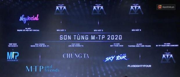 Sơn Tùng M-TP tuyên bố năm 2020: mạng xã hội riêng, 1 album, 3 single, 1 concert, 1 Sky Tour, có luôn quán cafe và thương hiệu thời trang - Ảnh 3.