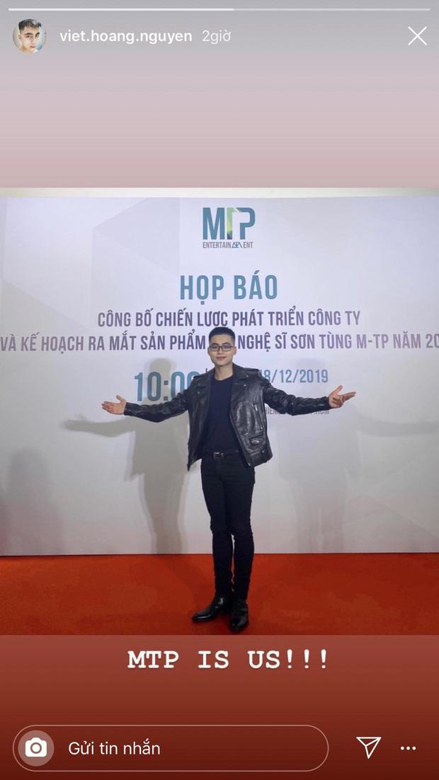 Em trai Sơn Tùng M-TP hút mọi ánh nhìn trong họp báo của anh trai với phong cách chững chạc và đôi chân dài miên man - Ảnh 2.