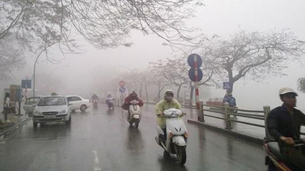 Miền Bắc đón không khí lạnh tăng cường, Hà Nội chuyển mưa rét - Ảnh 1.
