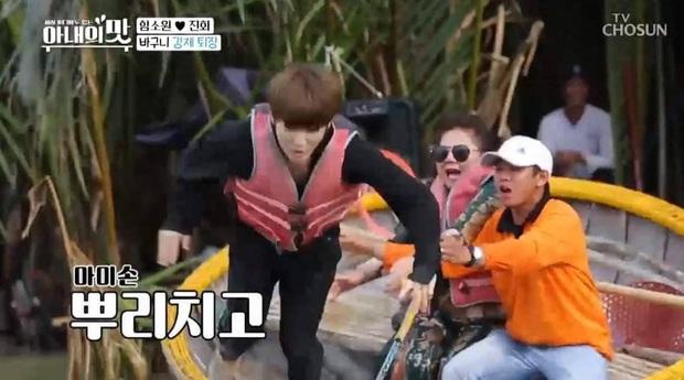 Nữ diễn viên Hàn Quốc vật vã đến ngã xuống nước khi chơi lắc thúng, bạn bè quốc tế giờ lại có thêm một trò vui khi đến Việt Nam  - Ảnh 6.