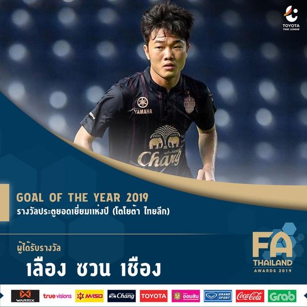 Xuân Trường đăng story lườm cháy mặt sau khi nhận danh hiệu Bàn thắng đẹp nhất Thai League - Ảnh 1.