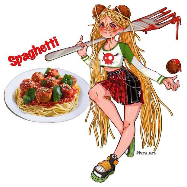 """Thử tưởng tượng các loại đồ ăn sẽ """"biến hình"""" thành nhân vật anime, đâu là cái tên giành ngôi cosplay xuất sắc nhất? - Ảnh 3."""