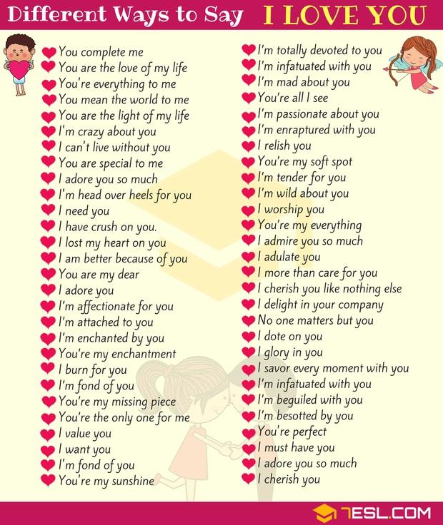 """Tỏ tình crush đừng nói """"I Love You"""" nhé vì Tiếng Anh còn có 123 câu khác """"tình"""" hơn nhiều! - Ảnh 2."""