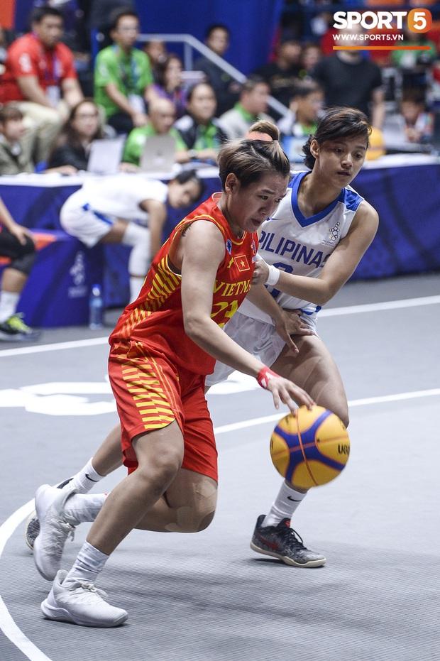 Nỗ lực hết mình nhưng vẫn không thể tạo nên bất ngờ trước Philippines, bóng rổ nữ Việt Nam vẫn còn cơ hội tranh huy chương đồng tại SEA Games 30 - Ảnh 7.