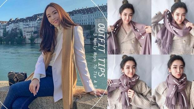 5 cách quàng khăn siêu xinh kiểu Hàn Quốc để bạn diện ngay trong ngày gió lạnh căm căm - Ảnh 1.