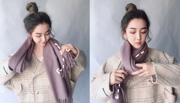 5 cách quàng khăn siêu xinh kiểu Hàn Quốc để bạn diện ngay trong ngày gió lạnh căm căm - Ảnh 2.
