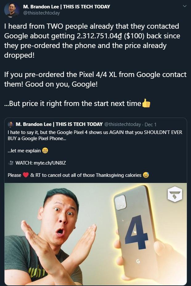 Đến cả Google cũng bắt chước Vsmart: Hoàn tiền 100 USD để an ủi người dùng từng mua phải hàng giá cao - Ảnh 2.