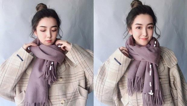 5 cách quàng khăn siêu xinh kiểu Hàn Quốc để bạn diện ngay trong ngày gió lạnh căm căm - Ảnh 3.