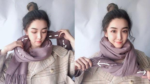 5 cách quàng khăn siêu xinh kiểu Hàn Quốc để bạn diện ngay trong ngày gió lạnh căm căm - Ảnh 4.
