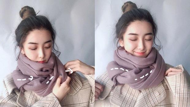 5 cách quàng khăn siêu xinh kiểu Hàn Quốc để bạn diện ngay trong ngày gió lạnh căm căm - Ảnh 5.
