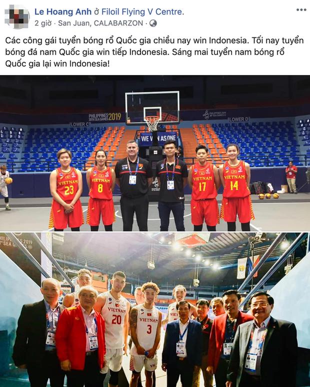Đại thắng Indonesia hai lần trong ngày, fan chờ tin chiến thắng của đội tuyển bóng rổ Việt Nam ở ngày ra quân thứ hai - Ảnh 3.